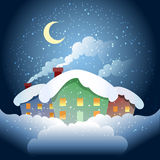Winter village Stock Images
