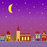 Winter village Royalty Free Stock Image