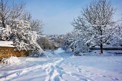 Winter village landscape Stock Photography