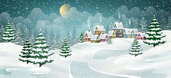 Christmas winter village Stock Photography