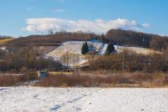 Winter in Tusilovic Near Karlovac. Winter in the village of Tusilovic Near Karlovac in Croatia royalty free stock images