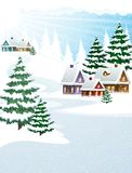 Winter village Royalty Free Stock Photo