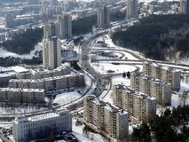 Winter in the Vilnius. City in the white snow. Winter time Royalty Free Stock Image