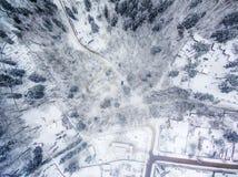 Winter in Vilnius, Lithuania: Tuputiskes Seprentine Road Stock Images