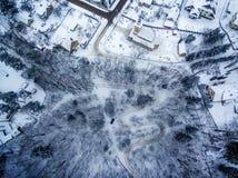 Winter in Vilnius, Lithuania: Tuputiskes Seprentine Road Stock Photos