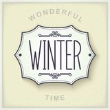 Winter vintage plate Stock Photography