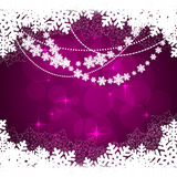 Winter violet background. With snow. Christmas snow surface. vector illustration stock illustration