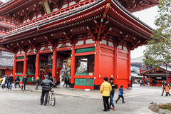 Winter Visitation to the Senso-Ji Temple and Shrine in Tokyo, Japan Royalty Free Stock Photos