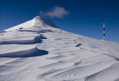 Winter volcano in Romania Royalty Free Stock Photography