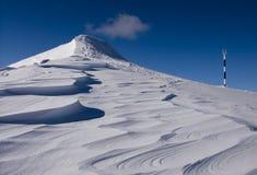 Winter volcano in Romania. A secondary summit of Piatra Mare mountain, Romania Royalty Free Stock Photography