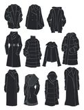 Winter voluminous outerwear Stock Photography
