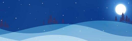 Winter-Vorsatz/Fahne Lizenzfreie Stockbilder