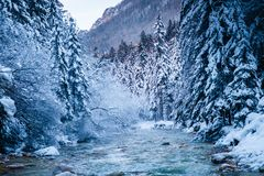 Winter in Vrata valley. Julian alps, slovenia Royalty Free Stock Photos