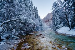 Winter in Vrata valley Royalty Free Stock Photography