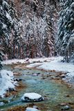 Winter in Vrata valley. Julian alps, slovenia Royalty Free Stock Photo