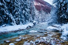 Winter in Vrata valley. Julian alps, slovenia Stock Images