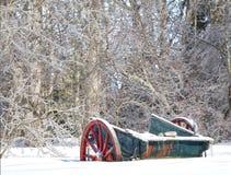 Winter Wagon Stock Photos