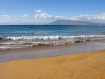 Beach at Wailea Sandy Ocean Shore Royalty Free Stock Images