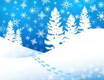 Winter-Waldhintergrund Lizenzfreie Stockfotografie