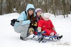 Winter  walk Royalty Free Stock Image