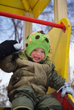 Winter walk for baby Royalty Free Stock Photography
