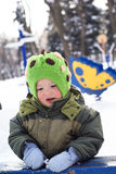 Winter walk for baby Royalty Free Stock Photo
