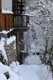 Winter Walk in Bulgaria stock images