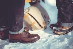 Winter walk Stock Images