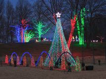 Winter Walk Festival of Lights Virginia Royalty Free Stock Image