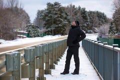 Winter walk in Russia. Royalty Free Stock Photo