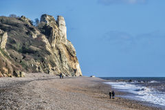 Winter Walking At Branscombe Stock Photos
