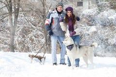 Winter walking Stock Photos