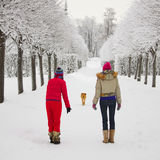 Winter walking Royalty Free Stock Photo