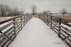 Winter walkway Stock Image