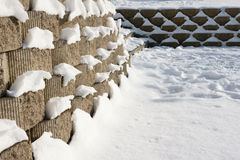 Winter wall Royalty Free Stock Images