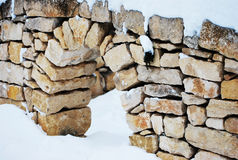 Winter wall Royalty Free Stock Photos