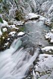 Winter at Deception Falls Park, Washington State Royalty Free Stock Photography