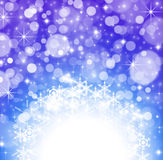 Winter Wallpaper Background. With glitter stars and snowflakes Royalty Free Stock Photos