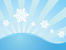 Winter wallpaper with snowflakes Royalty Free Stock Photo