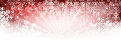 Winter wallpaper with snowflakes and shine. Royalty Free Stock Photos