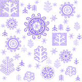Winter wallpaper with stylized snowflake Royalty Free Stock Photography