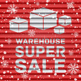 Winter warehouse super sale Royalty Free Stock Photography