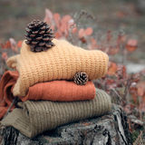 Winter warm clothes Royalty Free Stock Photography