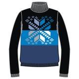 Winter warm sweater handmade, svitshot, jumper for knit, black color. Women's sweaters, men's sweater, unisex sweater. Stock Images