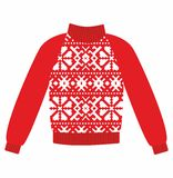 Winter warm sweater with an ornament, Royalty Free Stock Photography