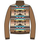 Winter warm tribal jumper for knit handmade native american navajo, sweatshirt style boho. Royalty Free Stock Image