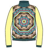 Winter warm tribal jumper for knit handmade native american navajo, sweatshirt style boho. Stock Photos