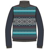 Winter warm tribal jumper for knit handmade native american navajo, sweatshirt style boho. Stock Photography