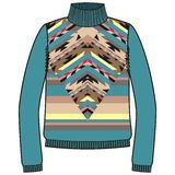 Winter warm tribal jumper for knit handmade native american navajo, sweatshirt style  Royalty Free Stock Photo