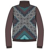 Winter warm tribal jumper for knit handmade native american navajo, sweatshirt style  Royalty Free Stock Image